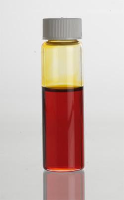 Manuka (Leptospermum scoparium) Essential Oil in clear glass vial.